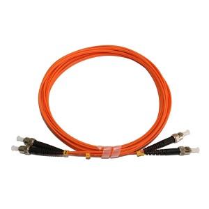ST ST MultiMode Duplex OM2 50125 Fiber Optic Patch Cord