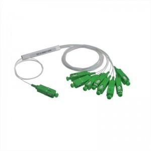 1X8 Fiber Optic PLC Splitter Mini 0.9mm With SC APC/UPC Connector