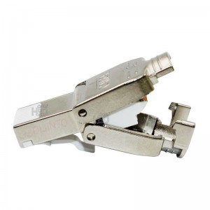 CAT6A RJ45 Toolless Shielded Ethernet Network Female Connector