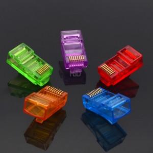 Different Color CAT6 RJ45 Connector Unshielded 8P8C Colorful 100 pcs/pack