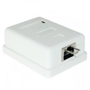 Surface Mount Box Cat6 STP Shielded Single 1 Port
