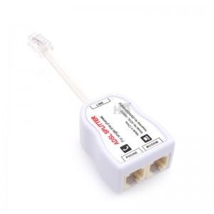 ADSL RJ11 RJ45 Line Modem Adapter Splitter 2 Port