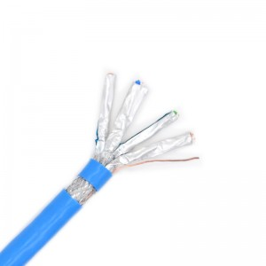 CAT7 10Gb SF/FTP Cable, 23AWG Solid Bare Copper, PVC Jacket, 305m Wooden Drum