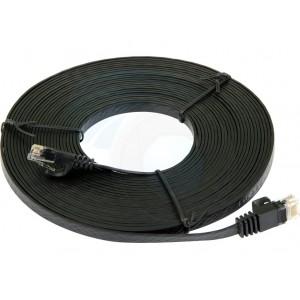 Flat Cat5e Network Ethernet Patch Cable - Black