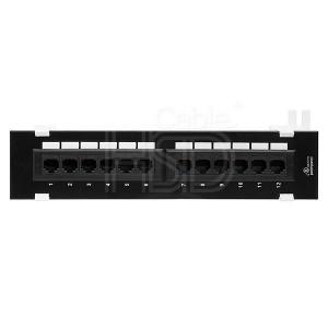 Cat5e Mini Patch Panel 110 Type 12 Port 1U